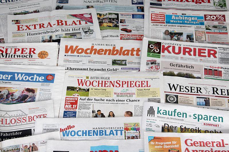 Die 1293 Wochenblatt-Titel erreichen in Deutschland eine Auflage von 88,4 Millionen - und sie werden gelesen, wie die AWA 2016 zeigt. (Foto: BVDA)